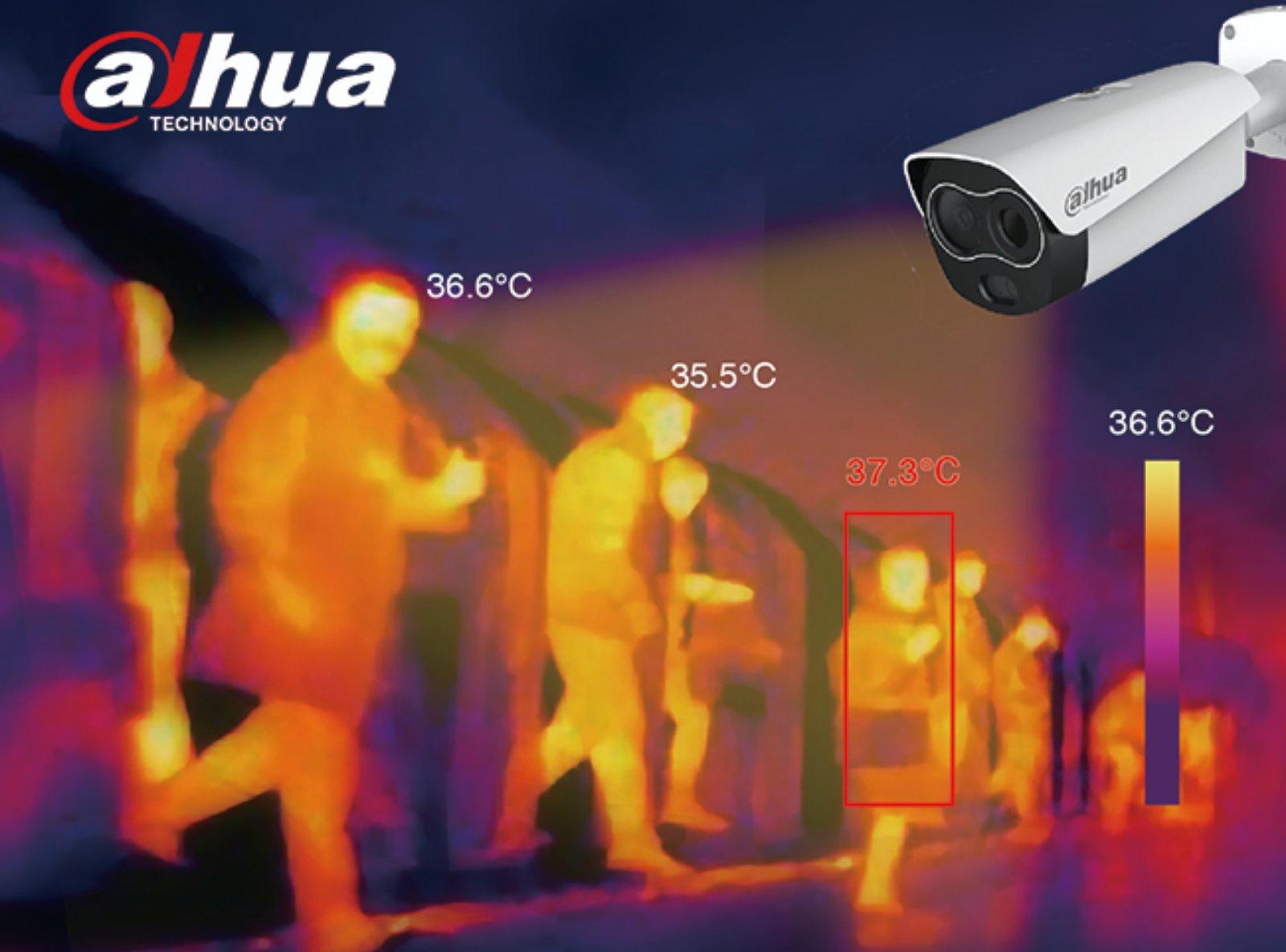 Beskontaktno merenje temperature - kamera Dahua
